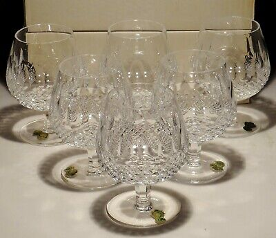 6 New Vintage Waterford Crystal Colleen Brandy Snifter Glasses  ~ In Box