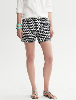 NWT Banana Republic New $49.50 Women Milly Collection Neon Short Size 8P