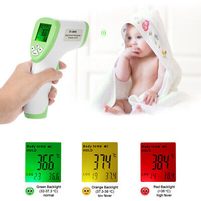 Digital LCD Non-contact IR Infrared Thermometer Forehead Body Surface W1O5