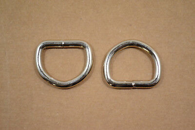 """Dee Ring - 1"""" Nickel Plated - Heavy Weight - Wire Welded - Pack of 24 (F405)"""