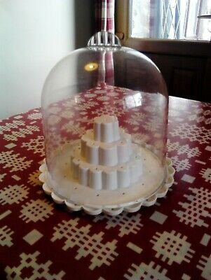 Cake Pop Stand And Dome Excellent Condition - Makes Gorgeous Display