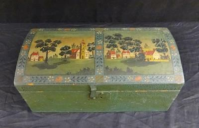 Antique Pa. or New England Painted Dome Top Box NICE