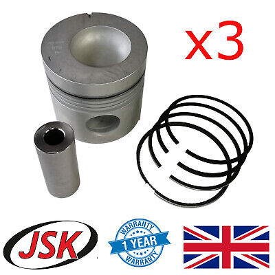 """4.4"""" Pistons Pins & Rings for Ford New Holland 3610 3910 4000 4600 5000 5610 ..."""