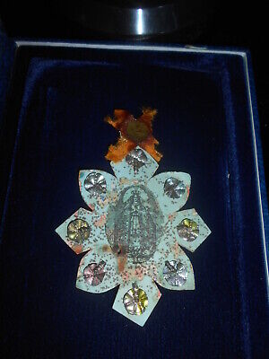 """19th century Reliquary With Engraving""""immaculate Conception"""""""
