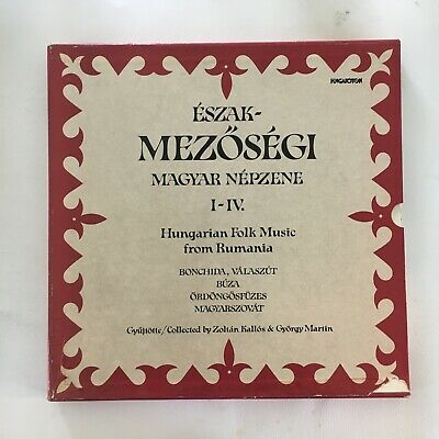 Hungarian Folk Music Of Rumania ~ 4 Lp Box W. Booklets ~  Magyar Nepzene I-Iv