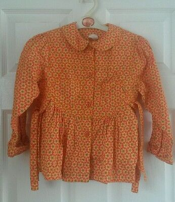 Oilily girls top, shirt, floral, flowery,age 5-6 years, 116cm