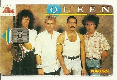 Rare / Carte Telephonique - The Queen : Freddie Mercury Phonecard Telephone Card