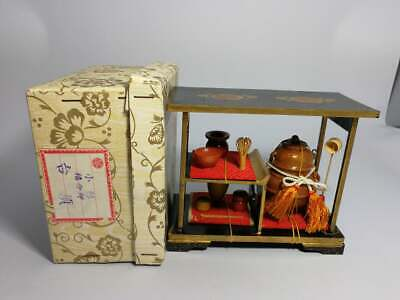 Vintage Japanese Miniature Dollhouse Wood Chadougu Tea Ceremony Hina Doll