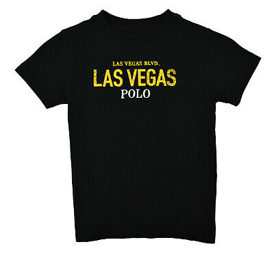 Polo Ralph Lauren Toddlers Boys Black Las Vegas Graphic Tee T-Shirt Sz 4T 9548-3