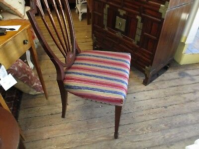Antique Mahogany Sheraton Style Shield Back Chair
