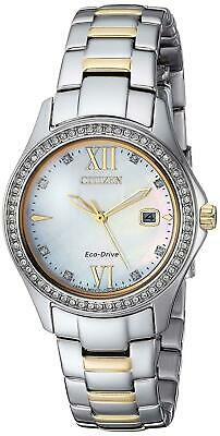 NEW Citizen Women Quartz Stainless Steel Casual Watch,Color Two Tone FE1144-85B