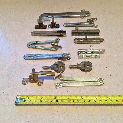 Vintage Furniture Arms Hinges Catches Job Lot Brass Iron Old Reclaimed Salvage