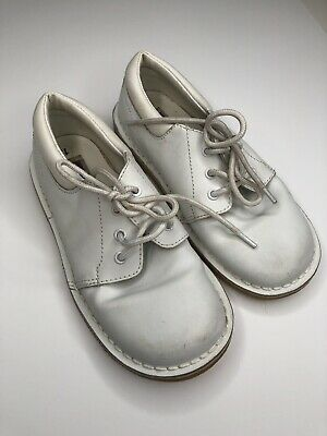 25a7e7e2425a L Amour Size 10 Toddler Leather White Shoes Boy or Girl Unisex Lace Up