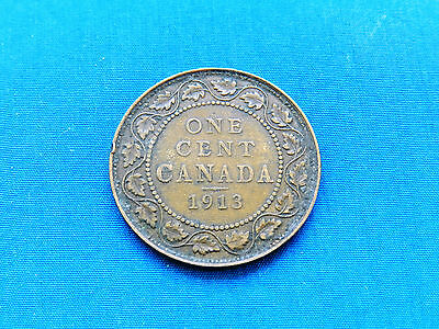 1913 Canada Large One Cent Coin   *VF-XF*