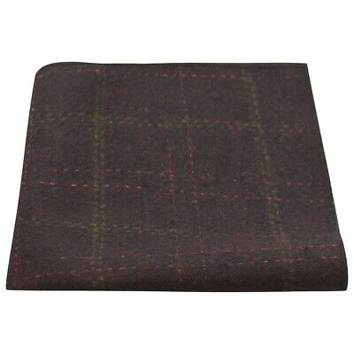 Heritage Check Wine, Deep Red, Burgundy, Pocket Square, Handkerchief