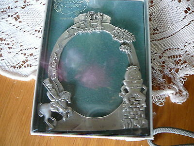 "Photo Frame Pewter Child's Humpty Dumpy Castle 3"" X 2 1/2"" Metal NIB"