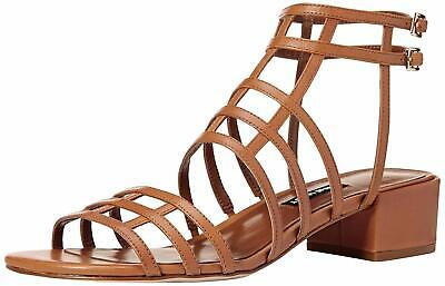 1a2768f7e9df ANNE KLEIN WOMENS Sultry Leather Open Toe Casual Ankle
