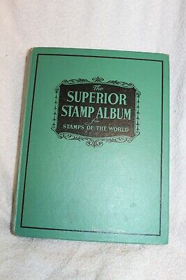 1952 Superior Stamp Album for Stamps of the World Grossman Stamp Co 850+ stamps