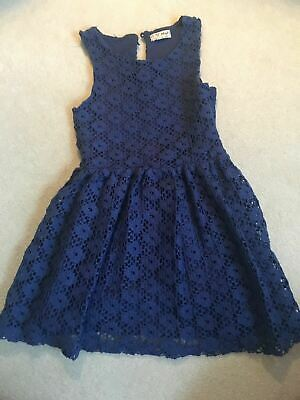 Girls 5 Years Navy Lace Dress Next S/No1