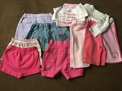 Girls 0-3 Months Summer To Autumn T-Shirts Long Short Sleeve Trousers Shorts V8