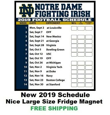 Notre Dame Football Schedule 2020 Printable.2019 Notre Dame Fighting Irish Wall Calendar By Turner