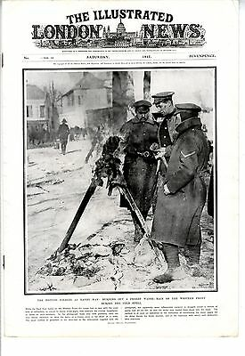 1917 ILLUSTRATED LONDON NEWS WW1 Depth Charges U-Boat WESTERN FRONT (2604 )