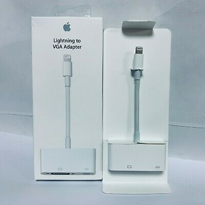 Genuine Apple Lightning-to-VGA Adapter OEM Original - White | MD825AM/A