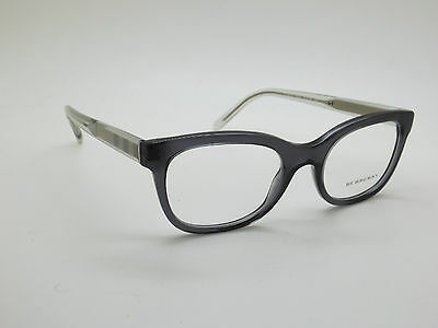bb7a76d2dbf NEW Authentic BURBERRY B 2213 3544 Smoke Grey Clear RX 51mm Eyeglasses