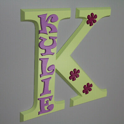 KYLIE personalized wood name sign unique door wall crib gift plaque baby nursery