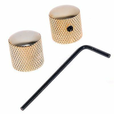2pcs Bronze Dome Guitar Knob Screw Style Solid Shaft Gold for Guitar or Bass
