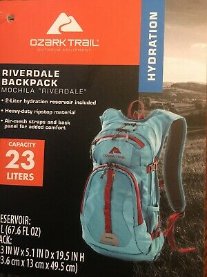 4c2f92c65 OZARK TRAIL 23L Riverdale Hydration Backpack Black/Red/Grey New ...