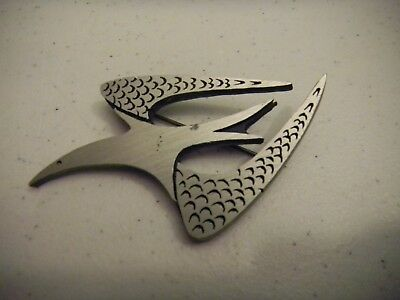The Handcrafter Bird in Flight Artisan Pewter Pin Brooch Greenwich Village NYC