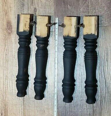 4 Vintage 14 inch Wood Turned Legs Architectural Salvage Repurpose Farmhouse