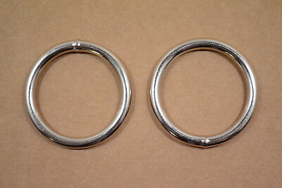 """O Ring - 2"""" - Nickel Plated - Wire Welded - Pack of 18 (F428)"""