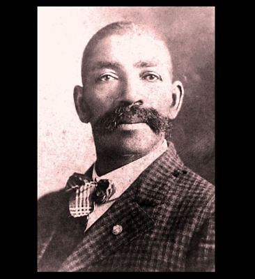 Black Slave Hero Bass Reeves PHOTO Wild West US Marshal Legend Killed Outlaws