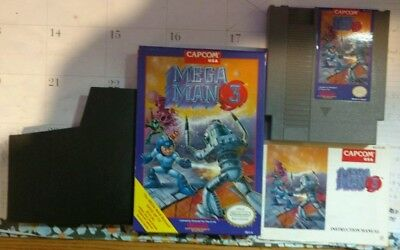 Nintendo Nes Capcom Mega Man 3 With Instructions & Box N/M Condition And Works