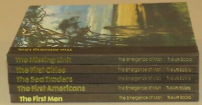 Lot of 5 The Emergence of Man, Time Life Books, Hardcover, Vintage 1970's