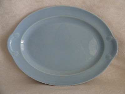 """LuRay TS&T - Large Oval Serving Platter  -  13 1/2""""  X  9 1/2""""  - Windsor Blue"""