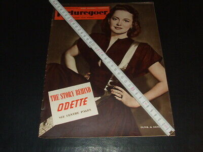 "Olivia de Havilland … on cover … 1950 … british magazine ""Picturegoer"""