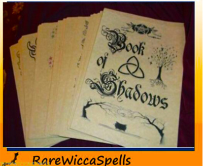 WICCA BOOK OF Shadows Magic Cleansing Baths 2pg set Rituals
