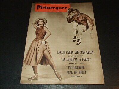 "Leslie Caron & Gene Kelly … on cover … 1951 … british magazine ""Picturegoer"""