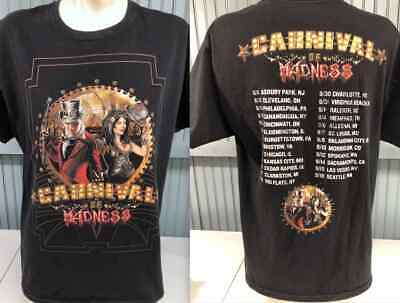 Carnival Of Madness Shinedown Papa Roach Large 2-Sided T-Shirt