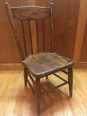 Primitive Wooden Child's Chair No Nails Colonial
