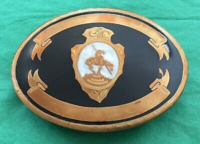 VTG Rare MINT Johnson Held Native American End Of Trail & Arrowhead BELT BUCKLE