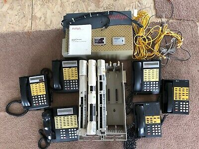 Avaya Partner Phone System Complete Business ACSw/ 6 phones Avaya At&t Lucent