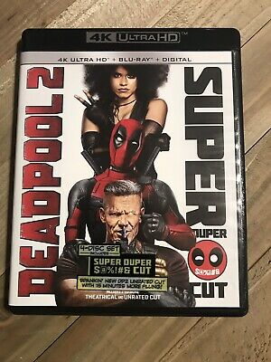 Deadpool 2 Super Duper Cut (4K Blu-ray Disc, 2018)  Like New 4K And BLU-RAY Only