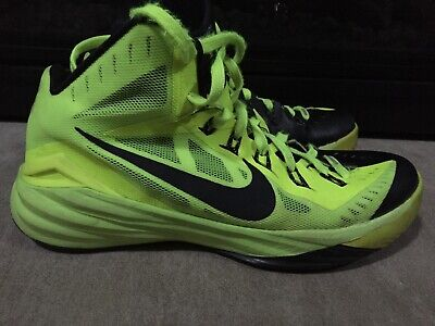 dc5e71018aed Nike Hyperdunk 2014 Mens Athletic Basketball Shoes Size 9 Volt Neon Black