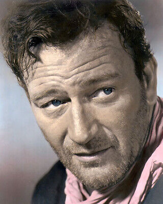 "John Wayne The Searchers 1956 Western Legend Actor 8X10"" Hand Color Tinted Photo"