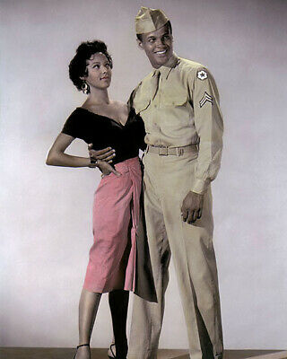 "DOROTHY DANDRIDGE & HARRY BELAFONTE CARMEN JONES 8x10"" HAND COLOR TINTED PHOTO"