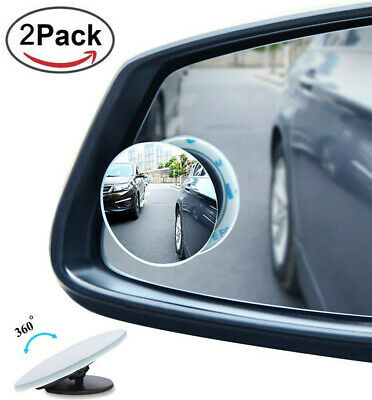 360°Blind Spot Mirror for Cars Round Rotatable Adjustable Exterior Stick-on